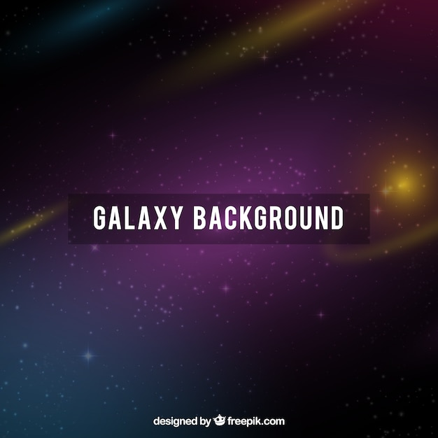 Dark galaxy background and golden sparkles