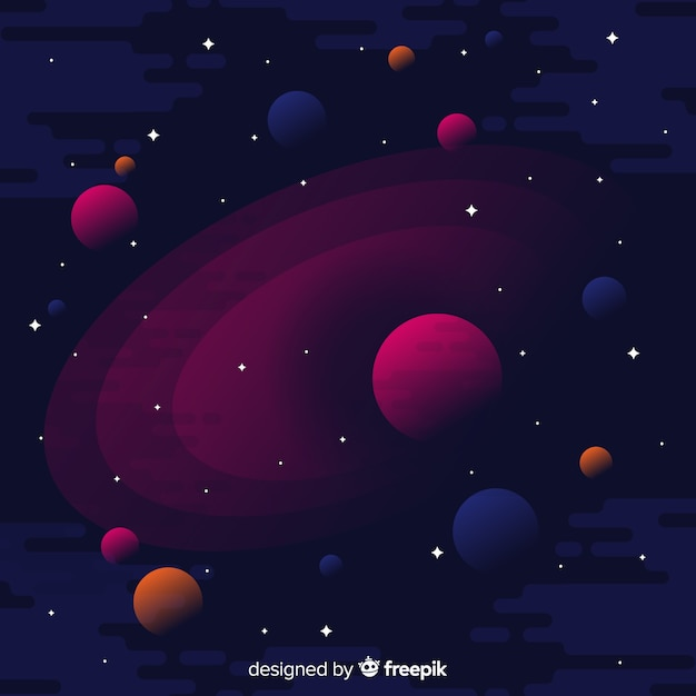 Dark Galaxy Background Free Vector