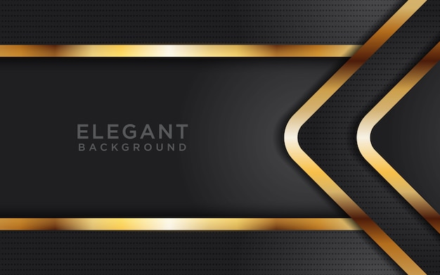 Dark Gold Abstract Arrow Background With Glitters Vector