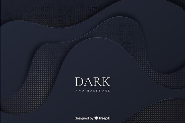 Dark and golden background Free Vector
