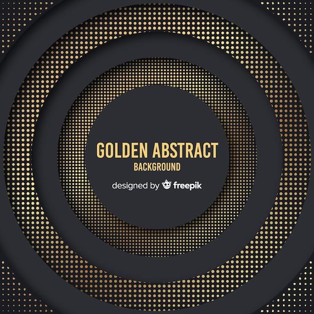 Dark and golden halftone background Free Vector