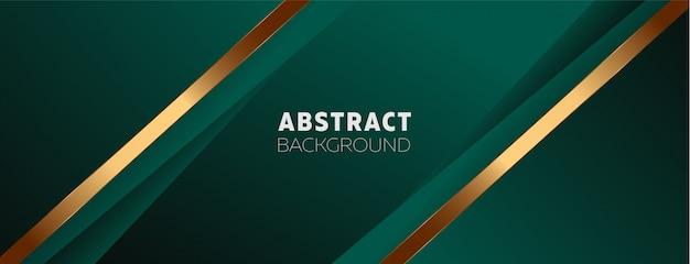 Темно-зеленый фон с абстрактными элементами Premium векторы