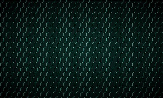 Темно-зеленый шестиугольник текстура углеродного волокна зеленые соты металлическая текстура стальной фон Premium векторы