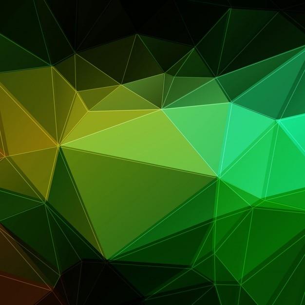Dark green polygonal background Vector | Free Download