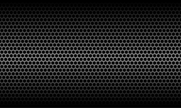 Dark honeycomb metallic carbon texture vector graphic background Premium Vector