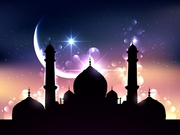 Dark Islamic Background Vector