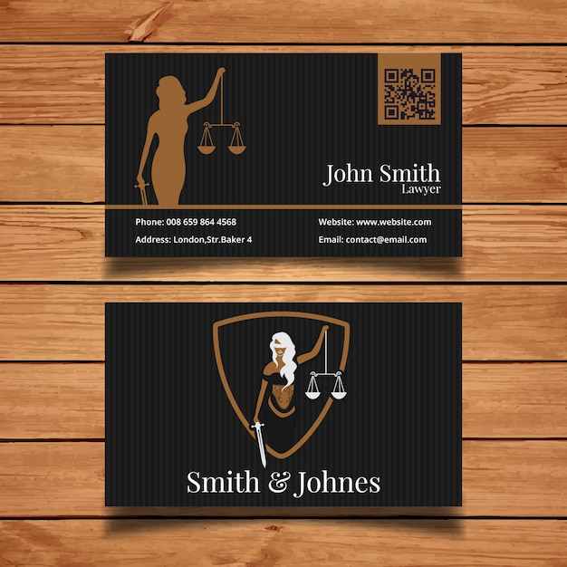Dark Lawyer Business Card Vector Free Download