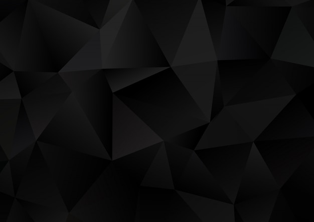 Dark low poly background Free Vector