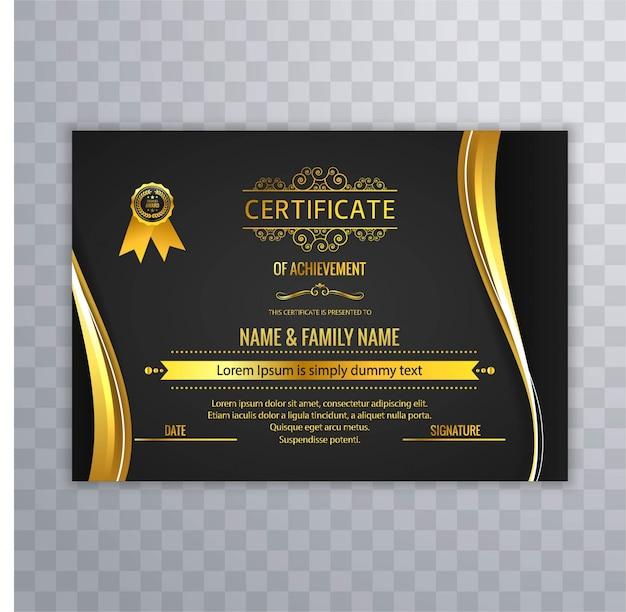 Dark luxury certificate template Vector | Free Download