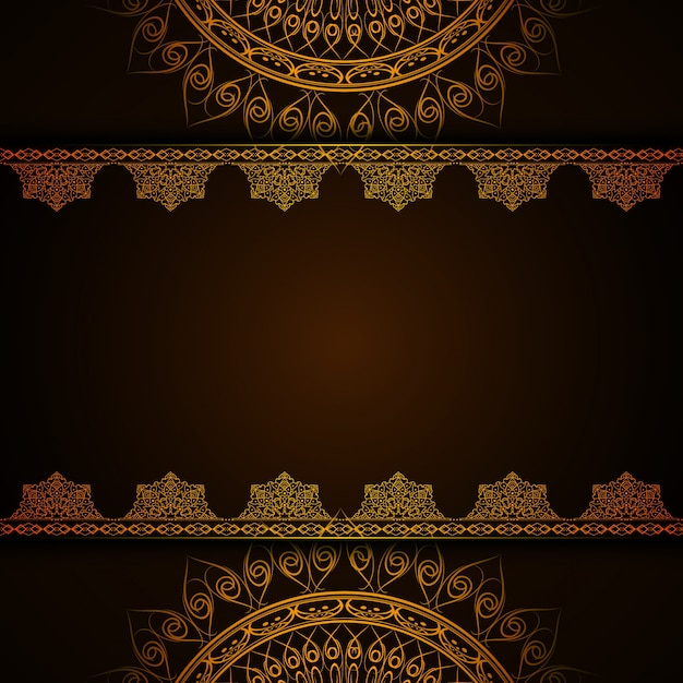 Dark Luxury Mandala Background Vector Free Download