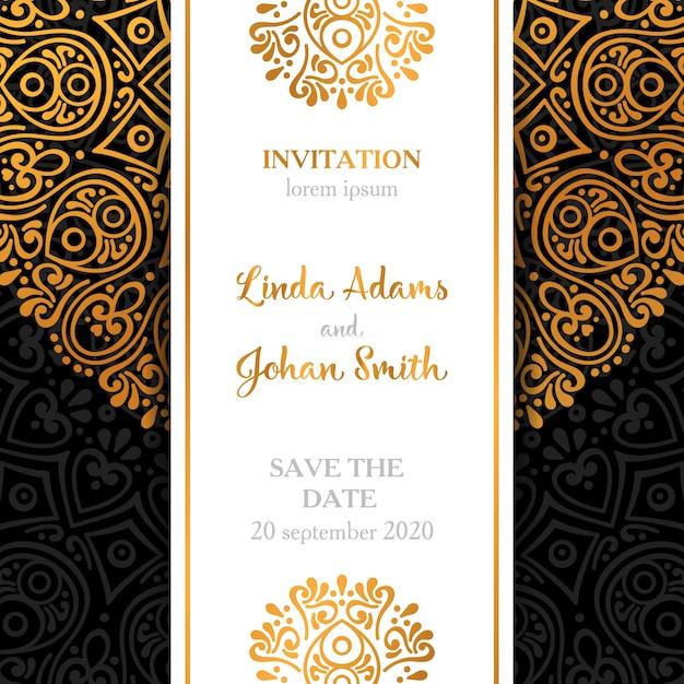 Dark luxury wedding invitation design Vector – Invitation Designs Free Download