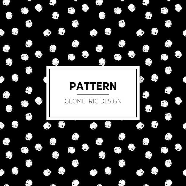 Dark minimal hand drawn dots pattern Free Vector