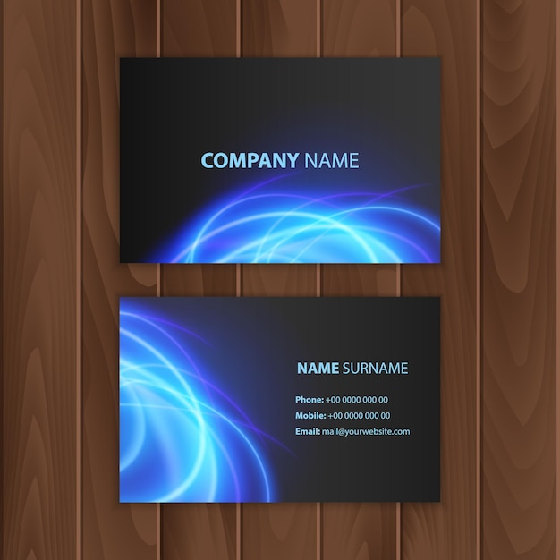 Dark modern design with abstract colorful background Premium Vector