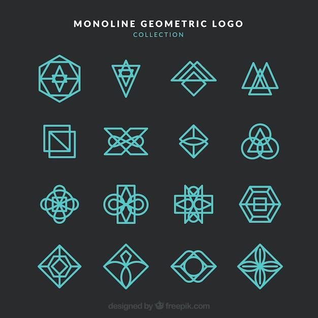 Dark modern monoline logo collection