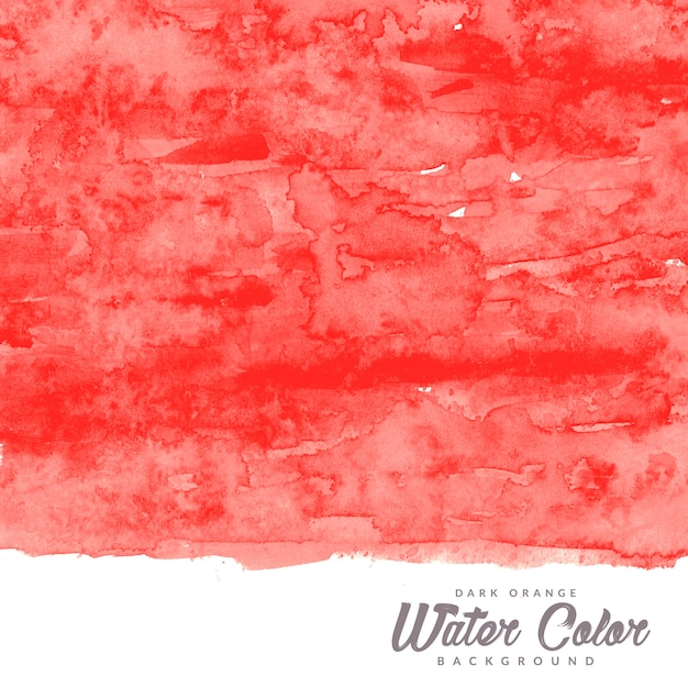 Dark orange water color texture background