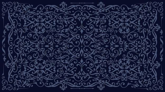 Carta da parati vintage ornamentale scuro Vettore gratuito