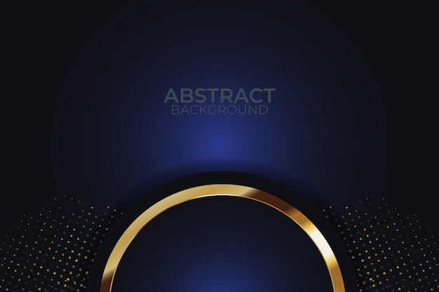 Dark overlap layers background with glitters Premium Vector
