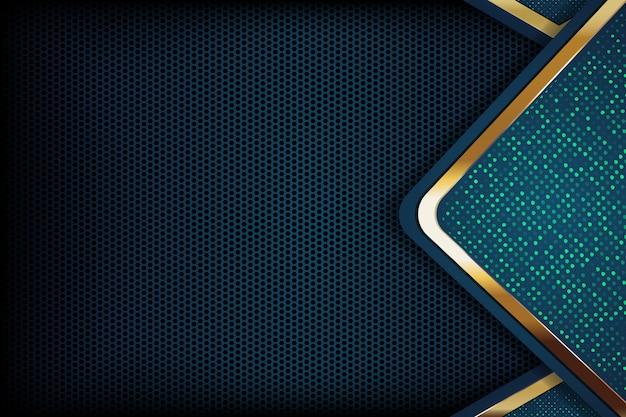 Dark overlap layers background with glitters Premium Vector