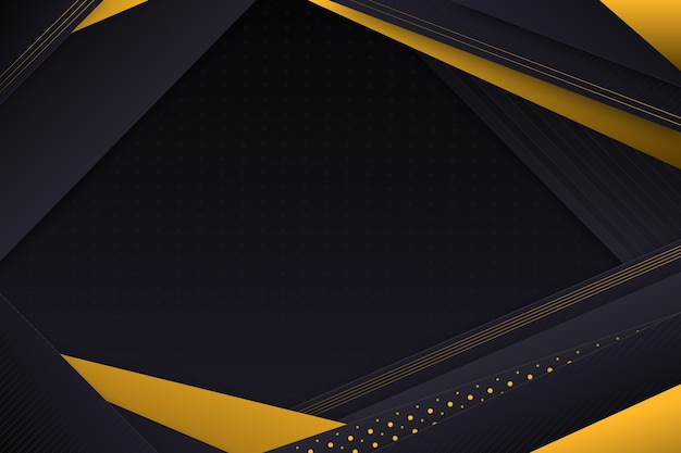 Dark paper layers background with golden details Free Vector