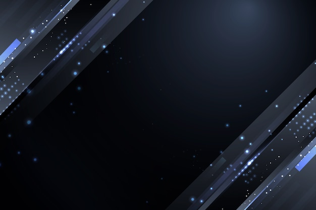 Dark particles background with grey sparkles Free Vector
