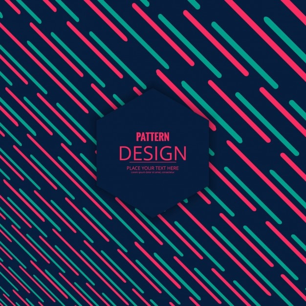 Dark pattern with pink and green stripes Free Vector