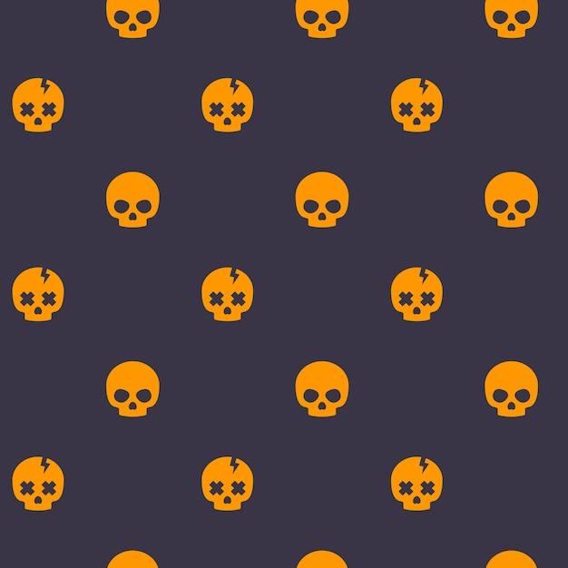 두개골과 어두운 패턴 프리미엄 벡터