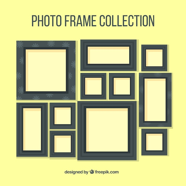 Dark photography frames collection Free Vector