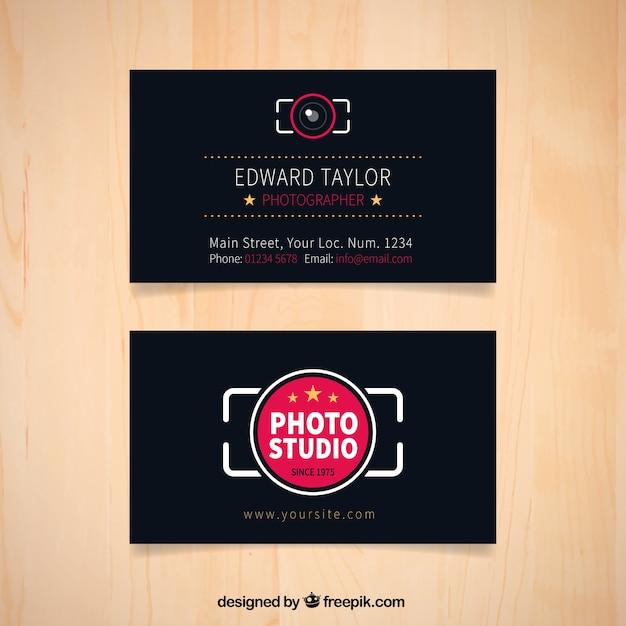 Dark photography studio business card vector free download dark photography studio business card free vector reheart Choice Image