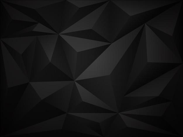Dark polygon 3d background Premium Vector