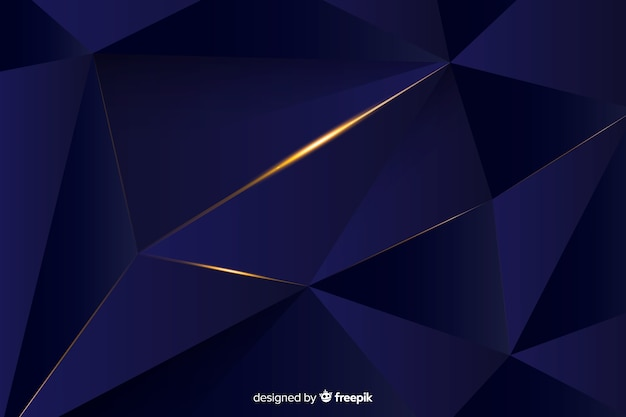 Dark polygonal background elegant design Free Vector