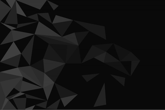 Dark polygonal background Free Vector