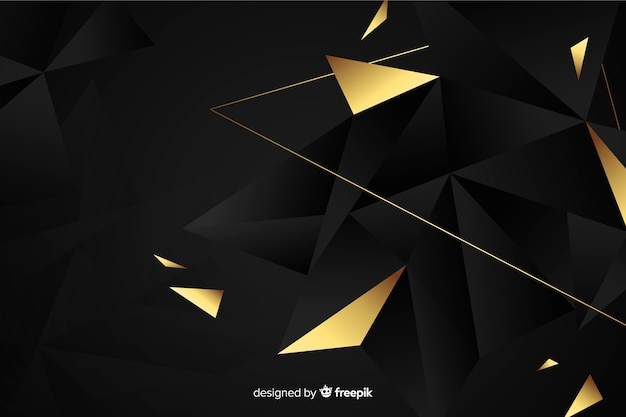 Dark polygonal background Free Vector
