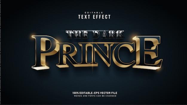 Текстовый эффект темного принца Бесплатные векторы