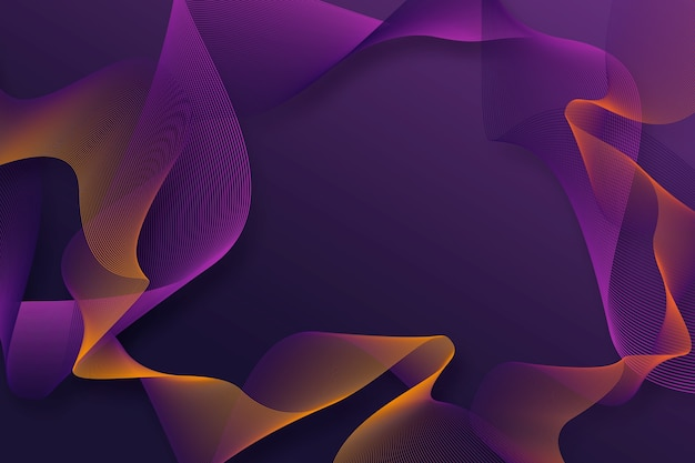Dark purple wavy background Premium Vector