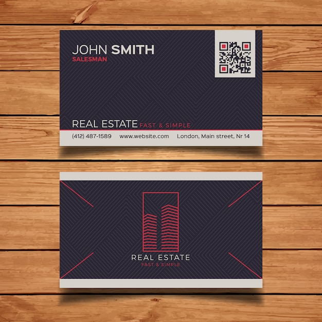 Dark real estate business card vector free download dark real estate business card free vector reheart Image collections
