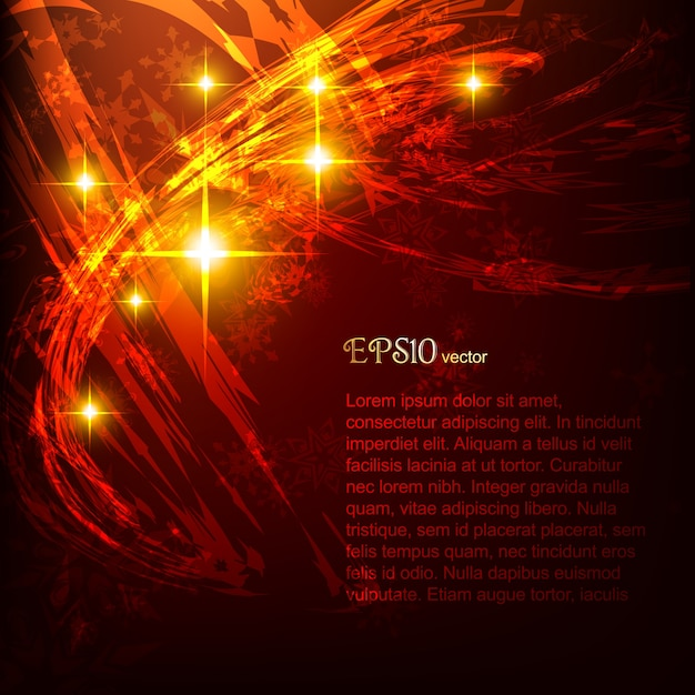 Dark red abstract background with shiny lights