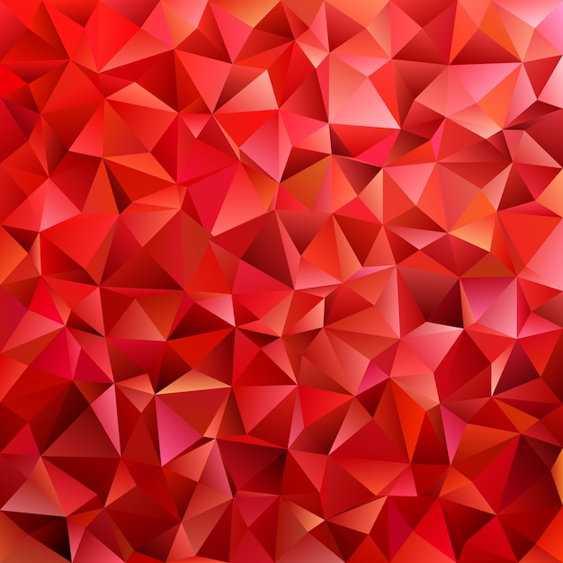 Dark red geometric abstract triangle tile pattern background - polygon vector graphic from colored triangles Free Vector