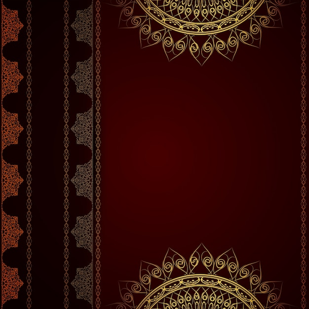 Dark red luxury mandala background Vector | Free Download