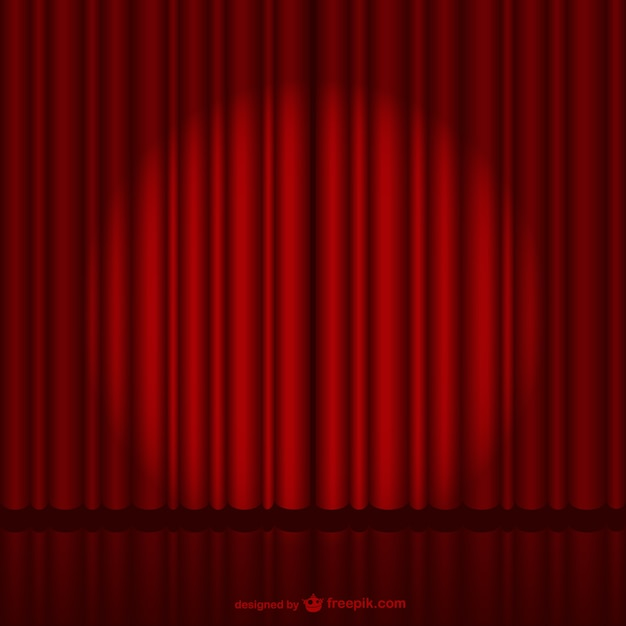 Dark red stage curtain Vector | Free Download