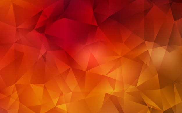 Dark red vector abstract polygonal background. Premium Vector
