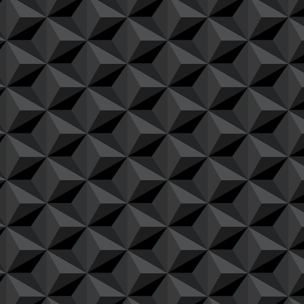 Dark seamless pattern with hexagons background Free Vector