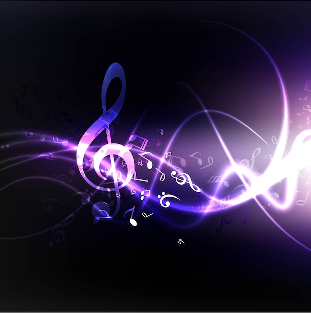dark shiny music background vector free download