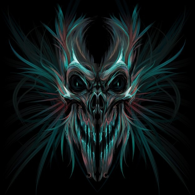 Dark skeleton Free Vector