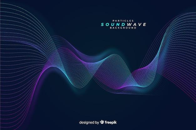 Темный звук частиц волнового фона Бесплатные векторы