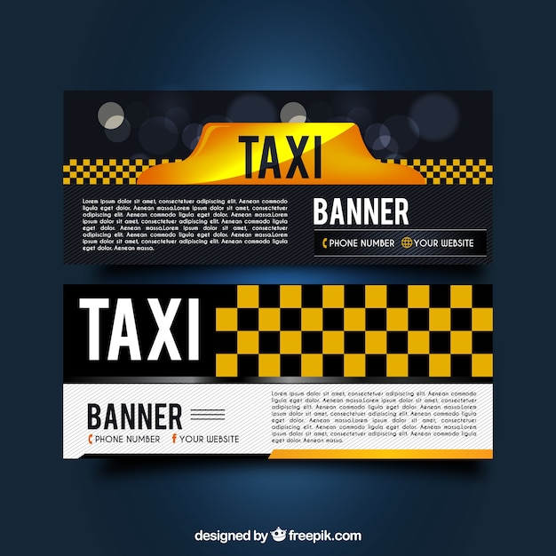 Dark taxi banners