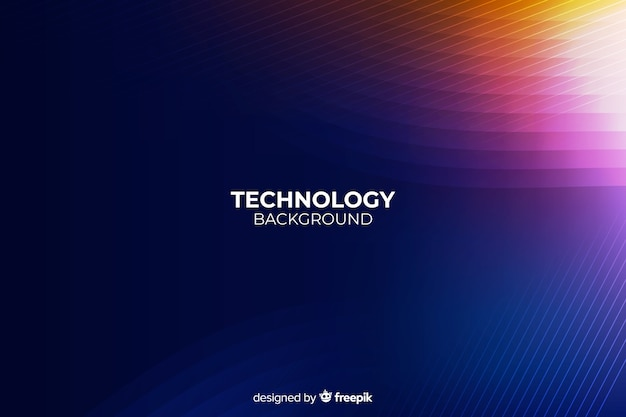 Dark technology abstract background Free Vector