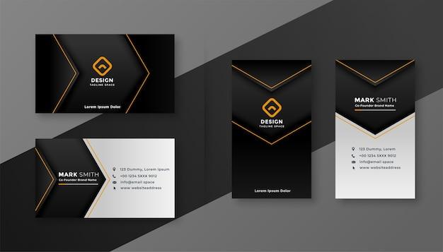 어두운 테마 현대 회사 명함 디자인 서식 파일 무료 벡터