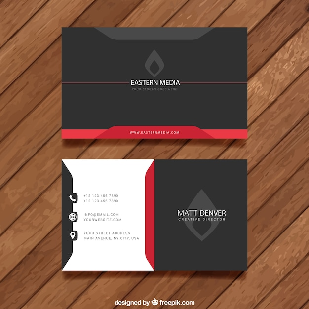 80 best free business card psd templates dark visit card another professional business fbccfo Image collections