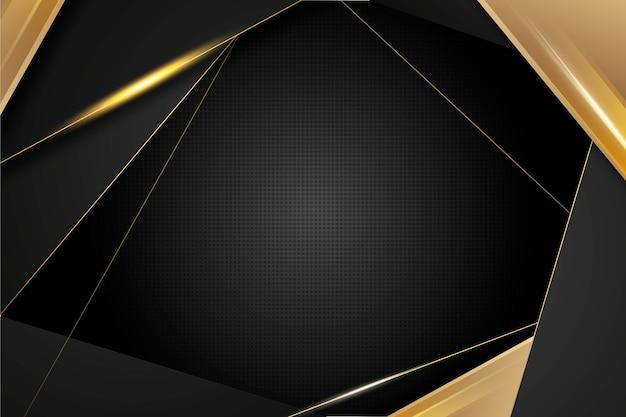 Dark wallpaper with golden details Free Vector