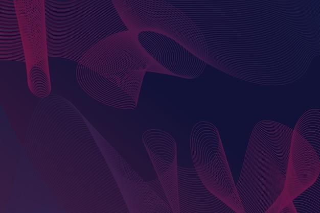 Dark wavy background concept Free Vector
